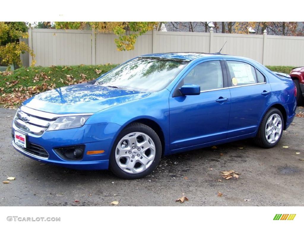 Blue Flame Metallic Ford Fusion
