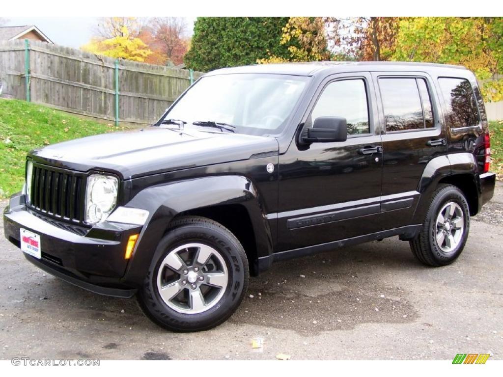 Brilliant black crystal pearl 2008 jeep liberty sport 4x4 exterior photo 38777876