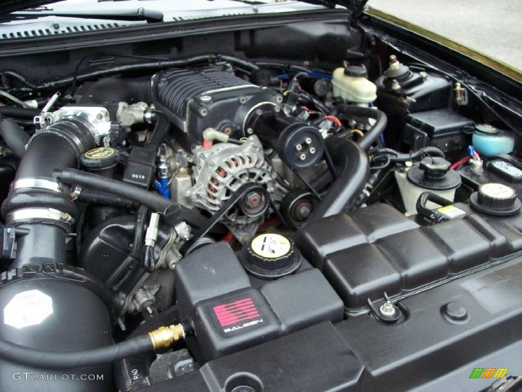 2001 Ford Mustang Gt Convertible 4 6 Liter Supercharged Sohc 16 Valve V8 Engine Photo 38782069