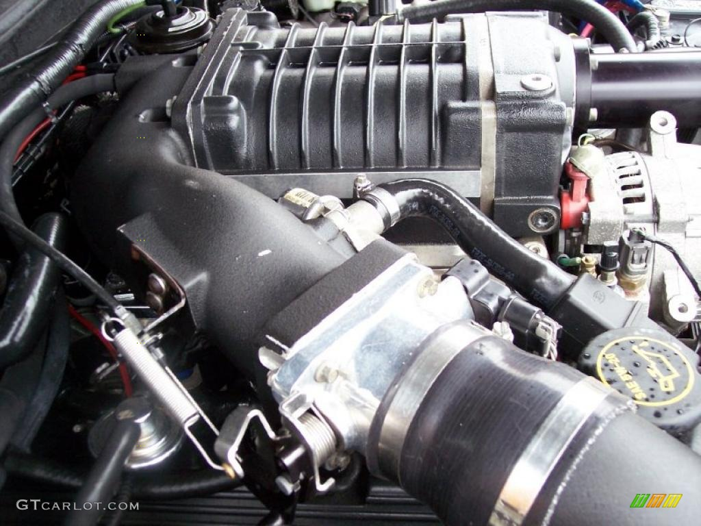 2001 Ford Mustang GT Convertible 4.6 Liter Supercharged SOHC 16-Valve V8 Engine Photo #38782117