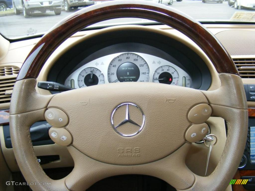 2008 mercedes benz e 350 4matic sedan cashmere steering for Mercedes benz steering wheel