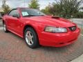 Torch Red 2002 Ford Mustang V6 Convertible Exterior