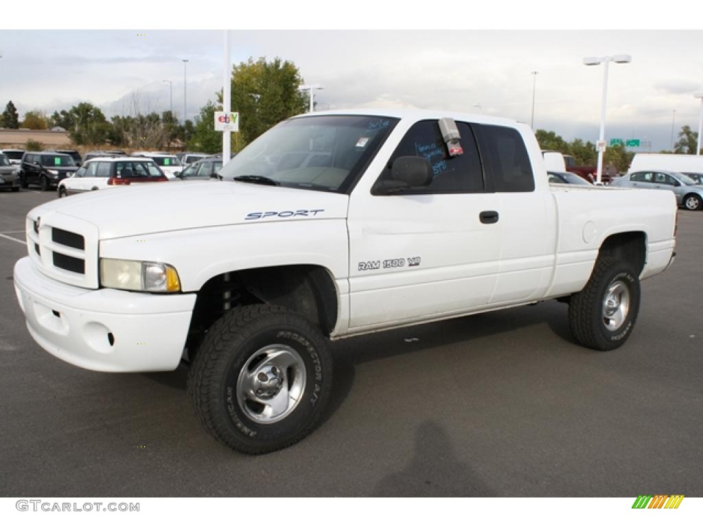 bright white 1999 dodge ram 1500 sport extended cab 4x4 exterior photo 38815212. Black Bedroom Furniture Sets. Home Design Ideas