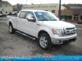 White Platinum Metallic Tri Coat - F150 Lariat SuperCrew 4x4 Photo No. 1