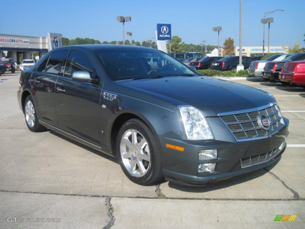 thunder gray chromaflair 2008 cadillac sts v8 exterior. Black Bedroom Furniture Sets. Home Design Ideas