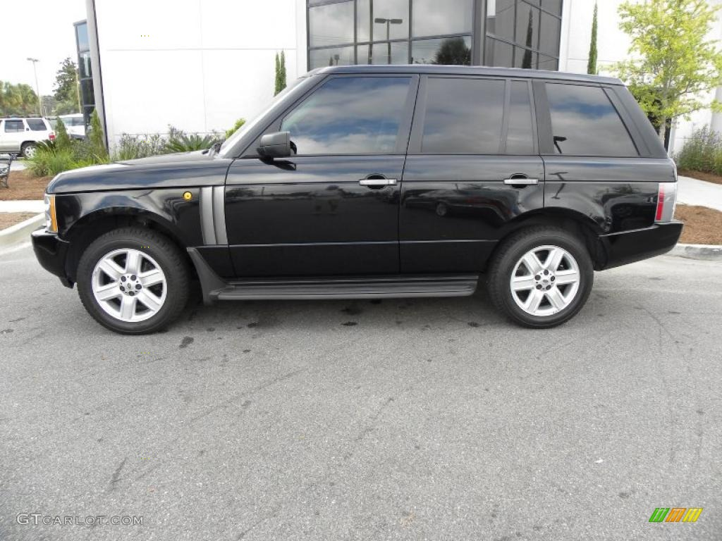 java black pearl 2005 land rover range rover hse exterior. Black Bedroom Furniture Sets. Home Design Ideas