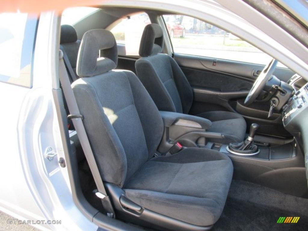 Black Interior 2005 Honda Civic LX Coupe Photo 38835956
