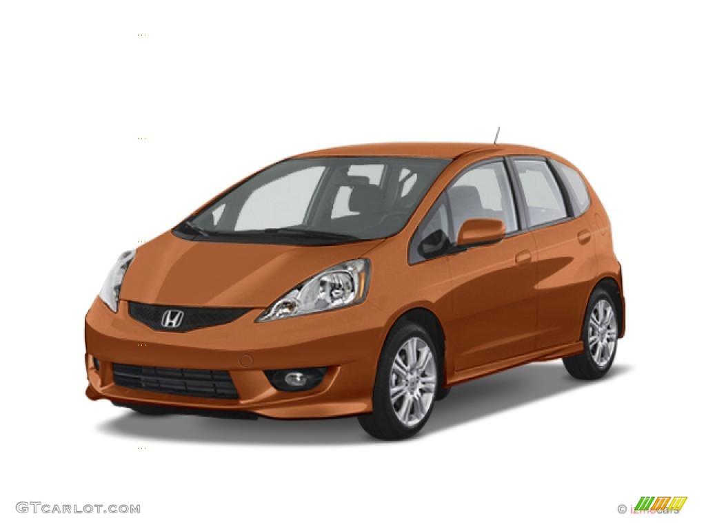 2010 orange revolution metallic honda fit sport 38795558 for Orange honda fit