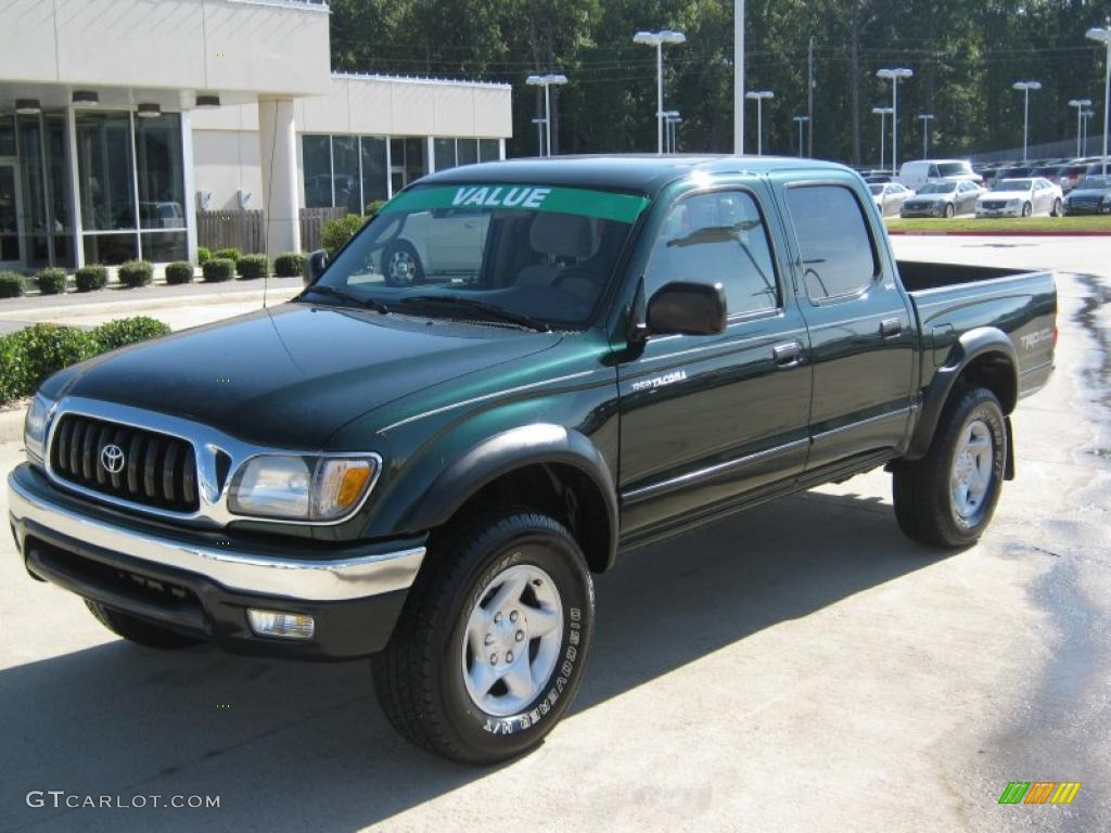 2003 Toyota Tacoma V6 TRD PreRunner Double Cab - Imperial Jade Green ...