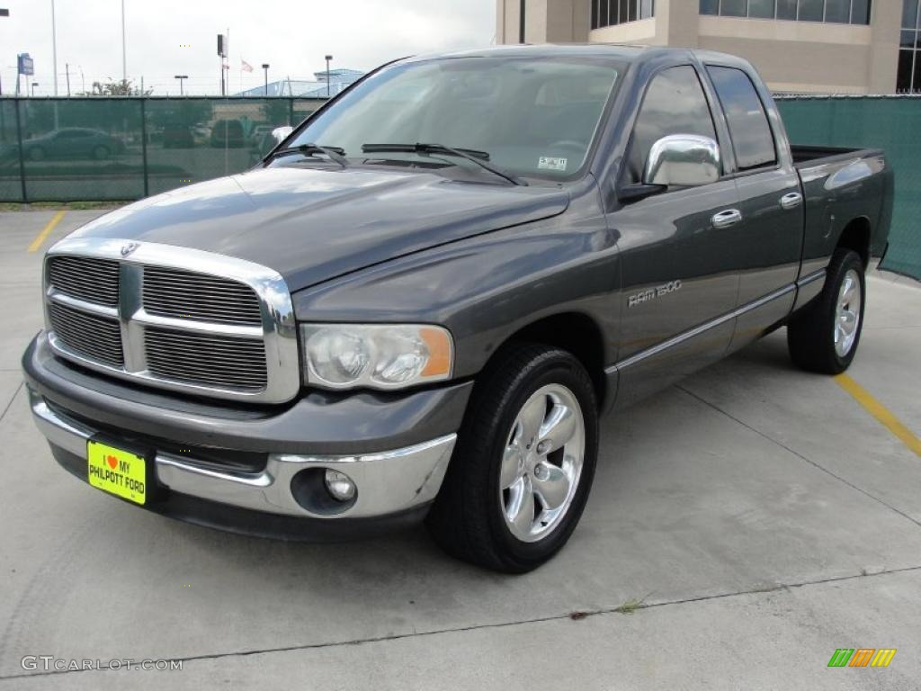 Graphite Metallic 2003 Dodge Ram 1500 Slt Quad Cab
