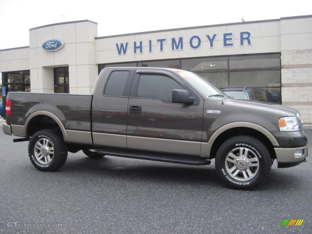 2005 ford f150 lariat supercab 4x4 dark stone metallic color tan. Black Bedroom Furniture Sets. Home Design Ideas
