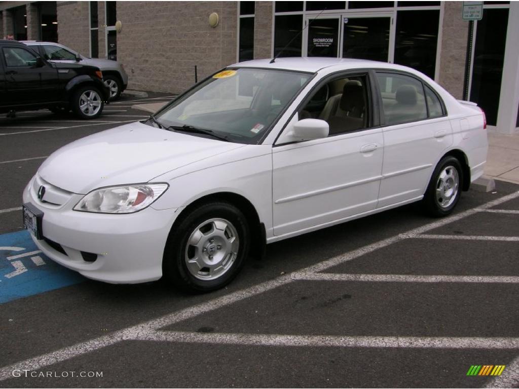 Taffeta White Honda Civic Hybrid Sedan