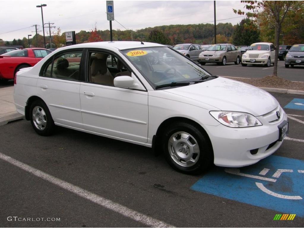 2005 taffeta white honda civic hybrid sedan 38795348