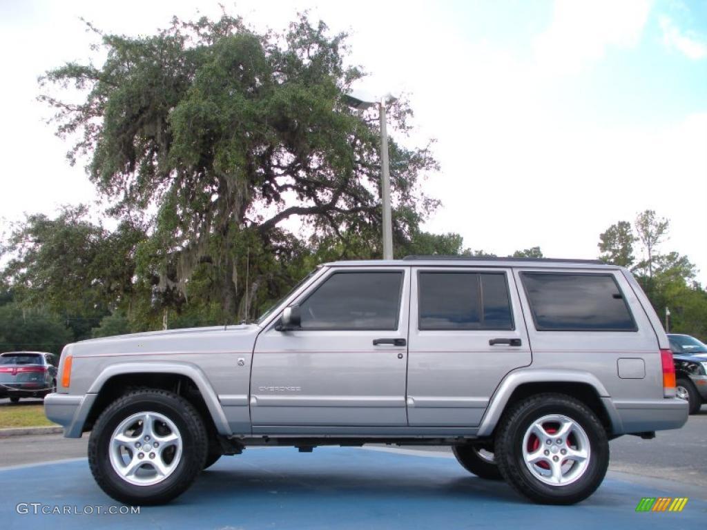 Silverstone Metallic 2001 Jeep Cherokee Sport Exterior Photo 38909350