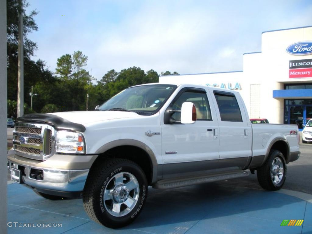 2006 oxford white ford f250 super duty king ranch crew cab 4x4 38794526 car. Black Bedroom Furniture Sets. Home Design Ideas