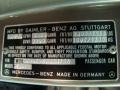 Info Tag of 1989 S Class 560 SEL