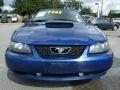 2003 Sonic Blue Metallic Ford Mustang V6 Convertible  photo #8