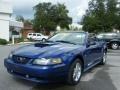 2003 Sonic Blue Metallic Ford Mustang V6 Convertible  photo #9