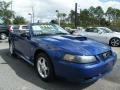 2003 Sonic Blue Metallic Ford Mustang V6 Convertible  photo #14