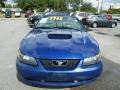2003 Sonic Blue Metallic Ford Mustang V6 Convertible  photo #15