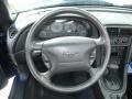 2003 Sonic Blue Metallic Ford Mustang V6 Convertible  photo #27