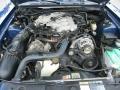 2003 Sonic Blue Metallic Ford Mustang V6 Convertible  photo #33