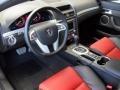 Onyx/Red 2009 Pontiac G8 Interiors