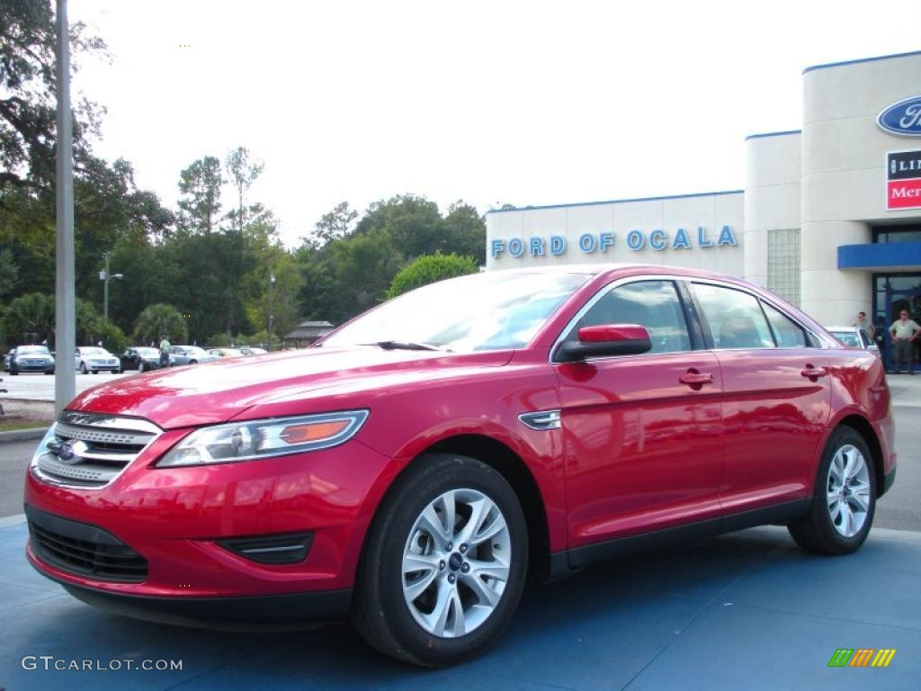 2011 red candy ford taurus sel 38917348 car color galleries. Black Bedroom Furniture Sets. Home Design Ideas