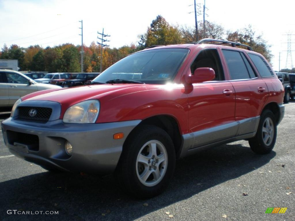 canyon red 2004 hyundai santa fe gls exterior photo. Black Bedroom Furniture Sets. Home Design Ideas