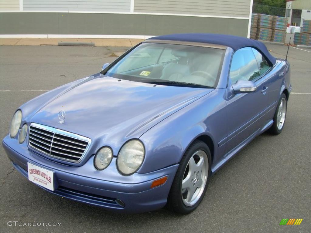 2001 quartz blue metallic mercedes benz clk 430 cabriolet 38917373 photo 4. Black Bedroom Furniture Sets. Home Design Ideas