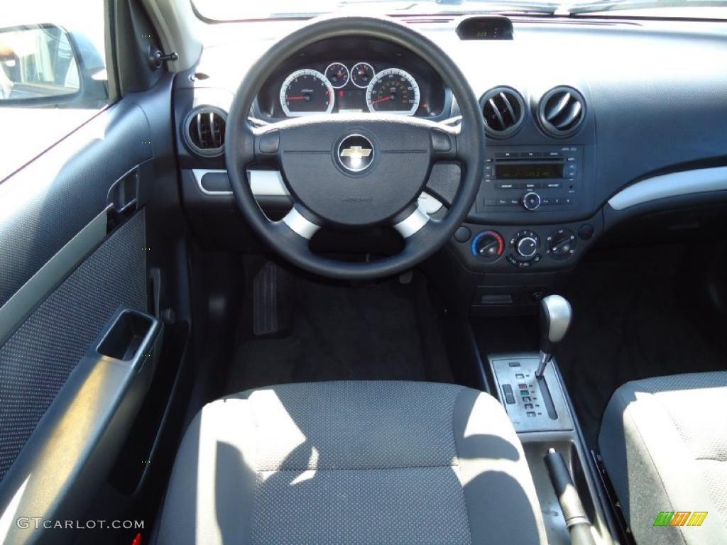 2005 Chevy Aveo Interior Charcoal Black Interior 2007