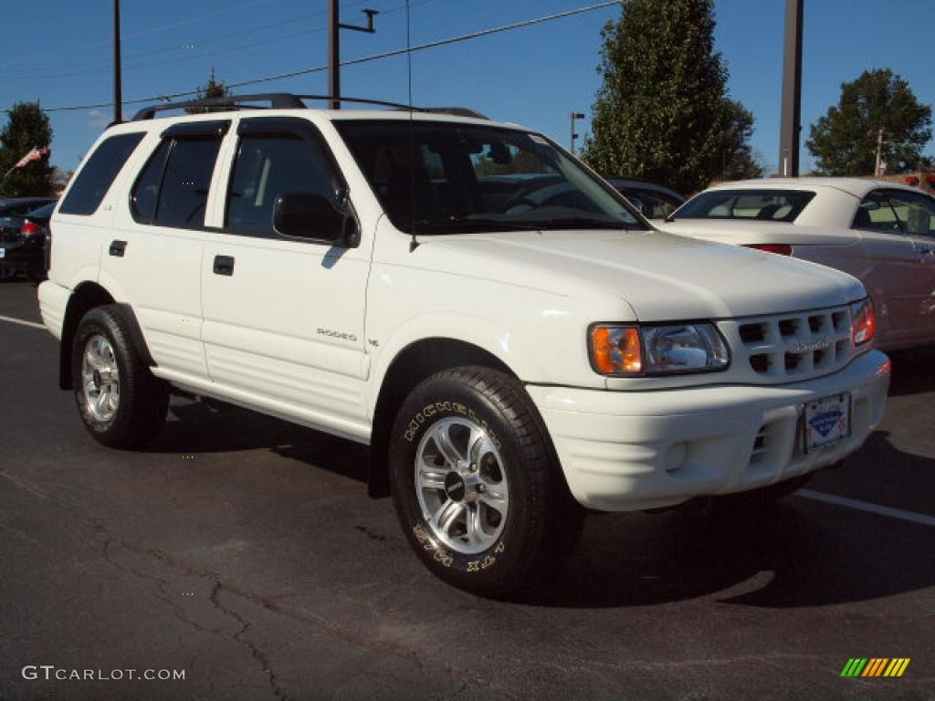 Alpine white 2001 isuzu rodeo ls 4wd exterior photo 38960706 gtcarlot com