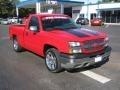 2005 Victory Red Chevrolet Silverado 1500 Regular Cab  photo #7