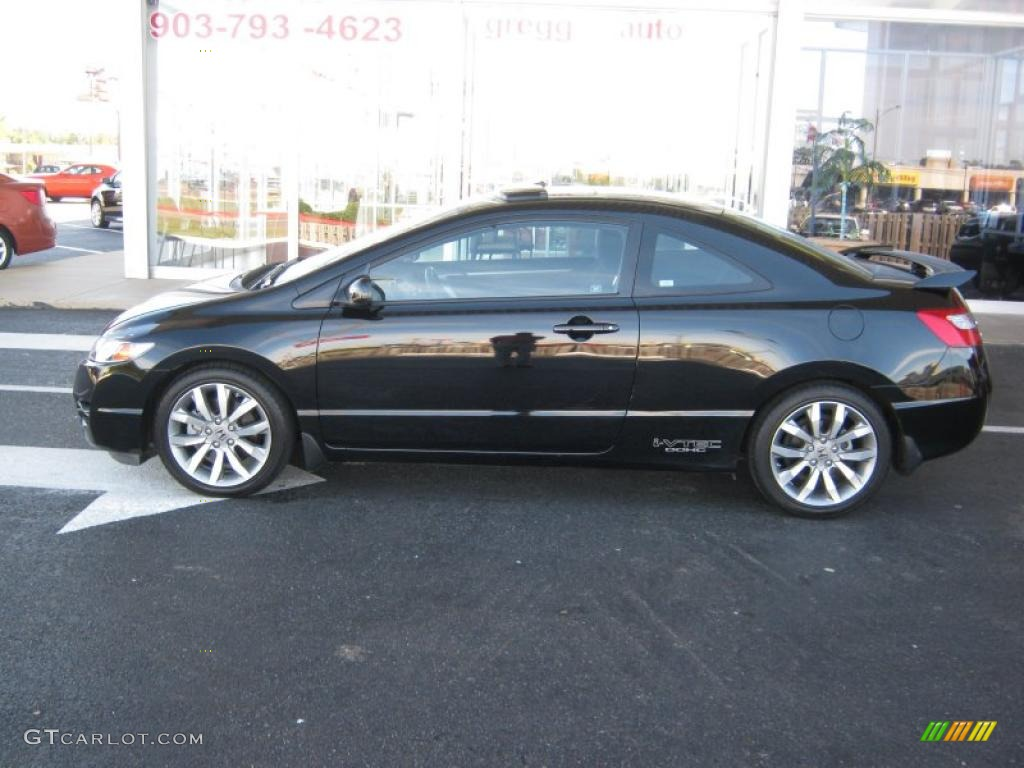 crystal black pearl 2009 honda civic si coupe exterior photo 38970791. Black Bedroom Furniture Sets. Home Design Ideas