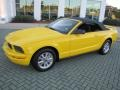 Screaming Yellow 2006 Ford Mustang V6 Deluxe Convertible Exterior
