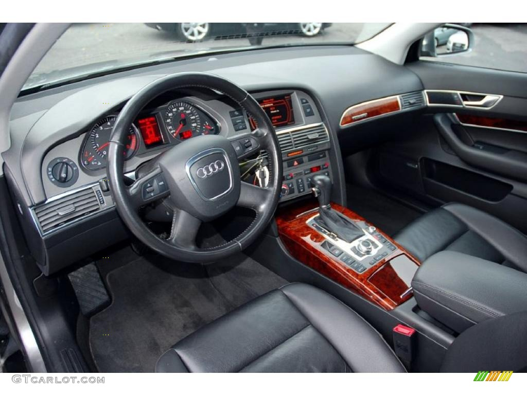 ebony interior 2006 audi a6 3 2 quattro sedan photo. Black Bedroom Furniture Sets. Home Design Ideas