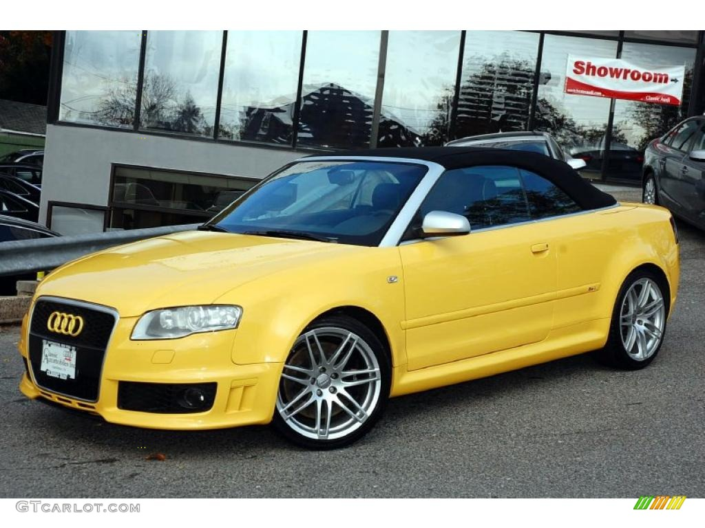 Imola Yellow 2008 Audi Rs4 4 2 Quattro Convertible