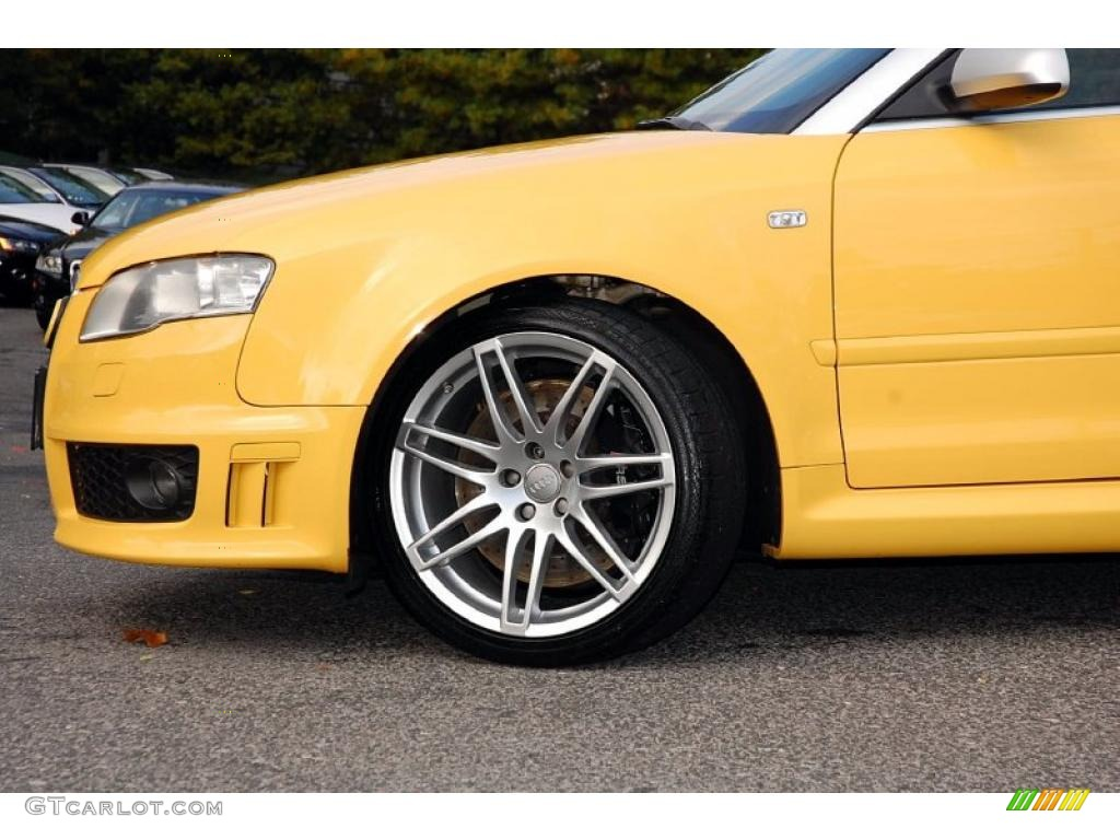 2008 Imola Yellow Audi Rs4 4 2 Quattro Convertible