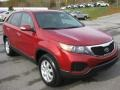 2011 Spicy Red Kia Sorento LX AWD  photo #4