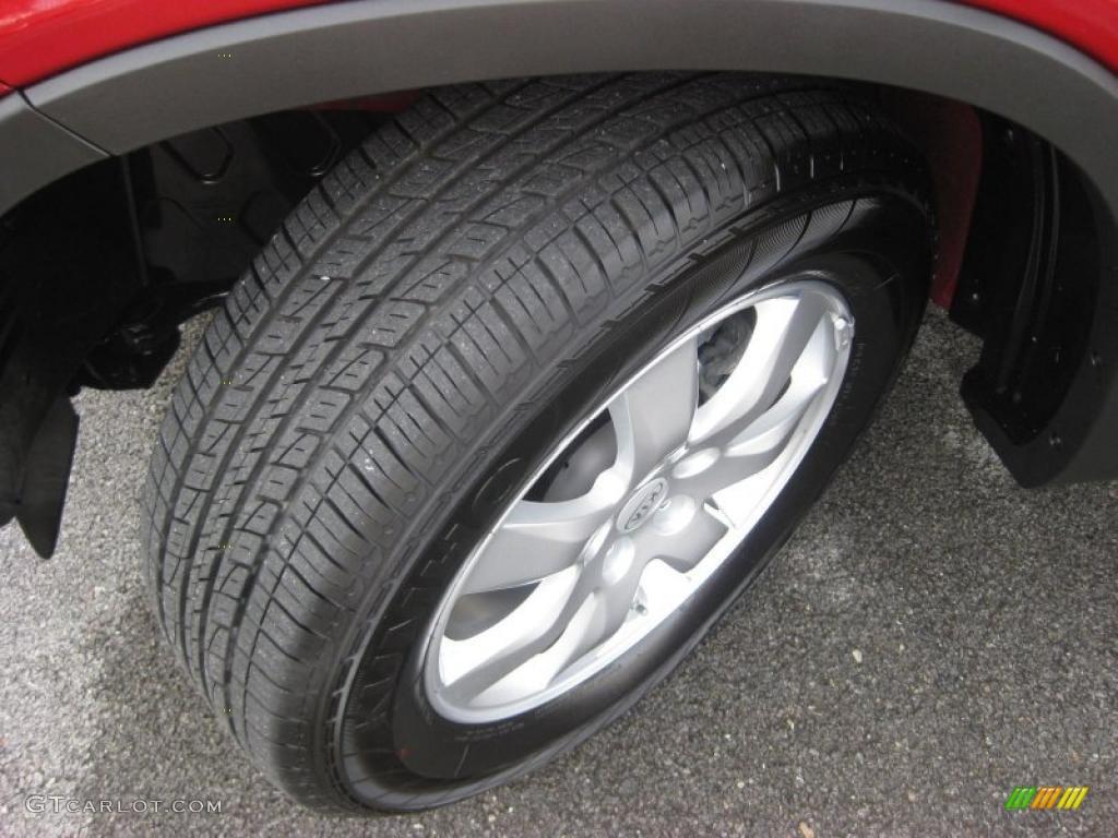 2011 Sorento LX AWD - Spicy Red / Gray photo #9