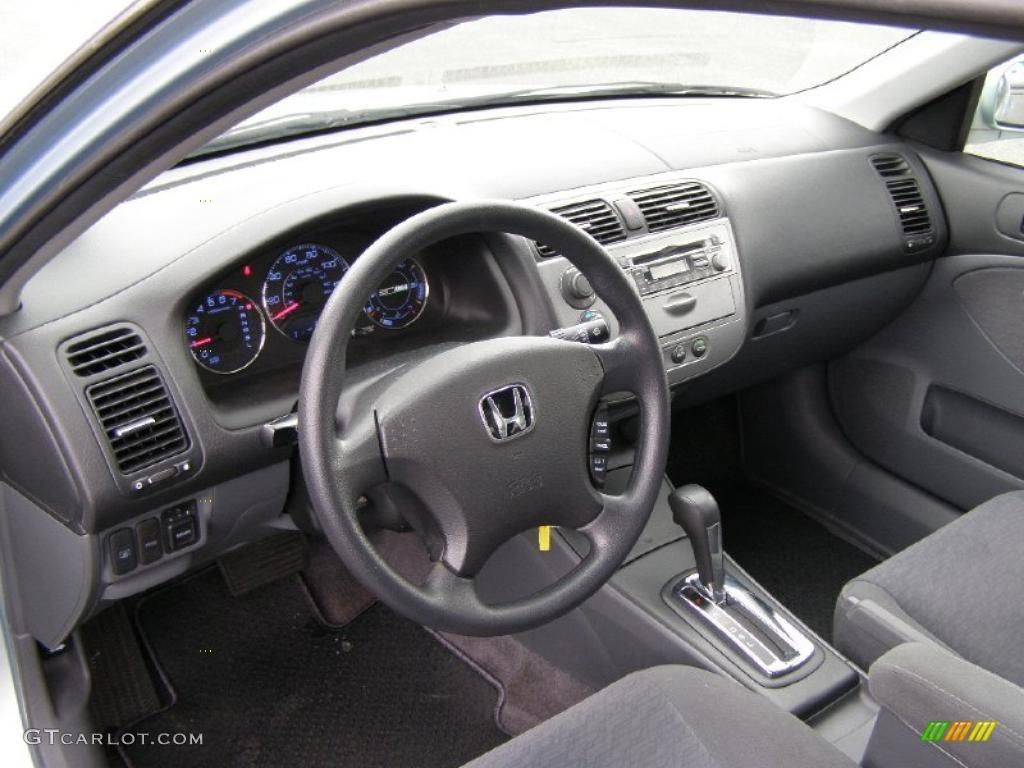 Gray Interior 2004 Honda Civic Hybrid Sedan Photo 38980271