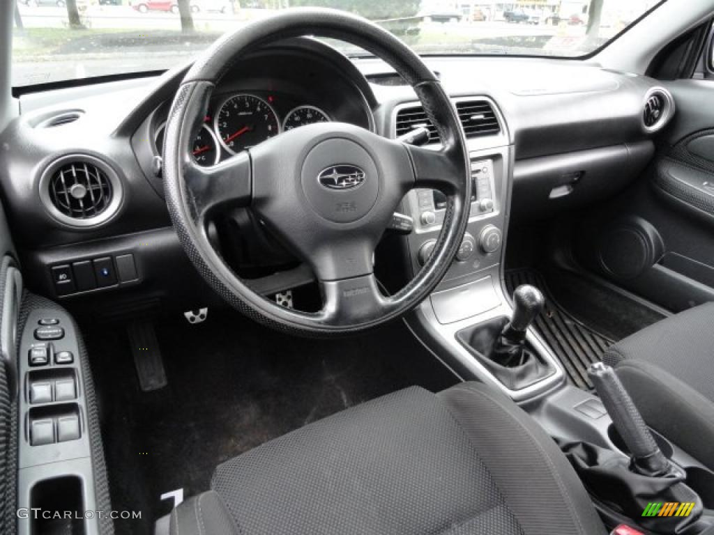 Black Interior 2005 Subaru Impreza Wrx Sedan Photo