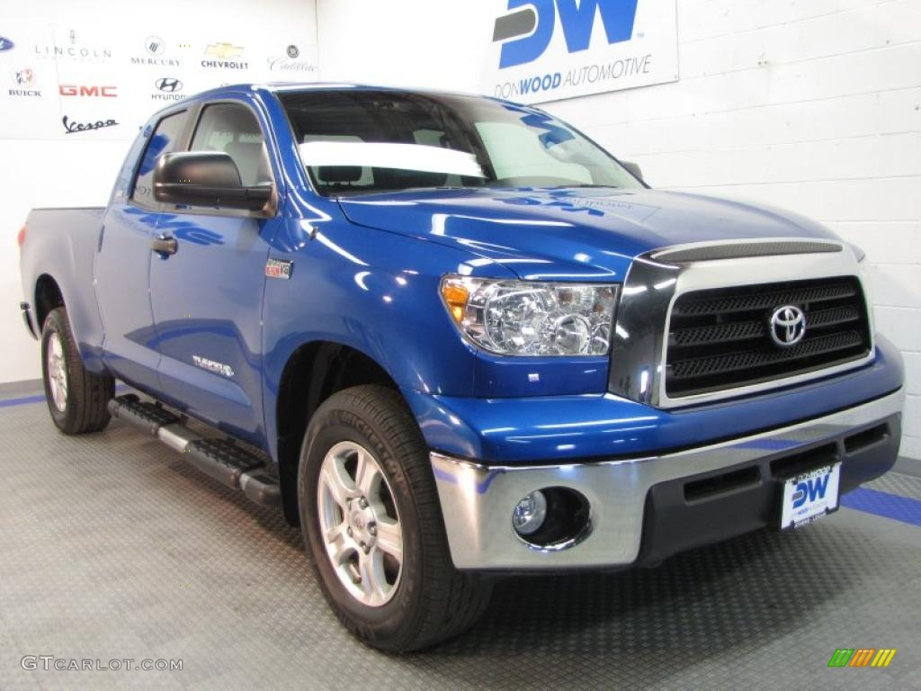 2008 Tundra SR5 Double Cab 4x4 - Blue Streak Metallic / Black photo #1