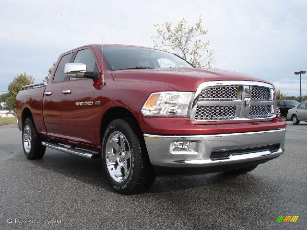 2011 Ram 1500 Laramie Quad Cab 4x4 - Deep Cherry Red Crystal Pearl / Dark Slate Gray/Medium Graystone photo #1