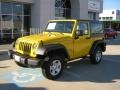 2011 Detonator Yellow Jeep Wrangler Sport 4x4  photo #1
