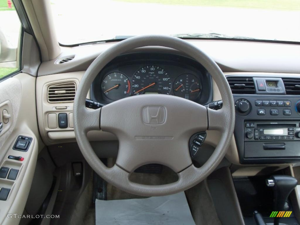 2002 Honda Accord LX Sedan Ivory Dashboard Photo #39011087