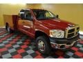 2008 Inferno Red Crystal Pearl Dodge Ram 3500 SLT Quad Cab 4x4 Chassis  photo #1