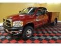 2008 Inferno Red Crystal Pearl Dodge Ram 3500 SLT Quad Cab 4x4 Chassis  photo #2