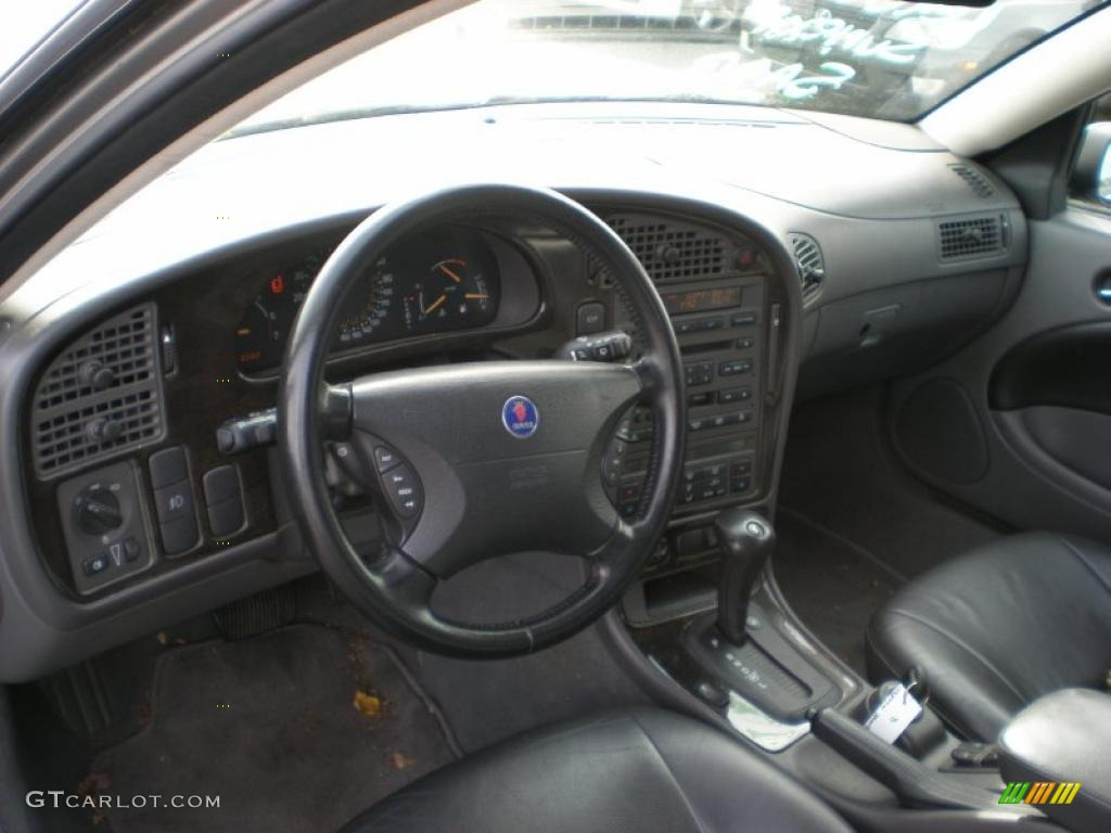 Charcoal Gray Interior 2003 Saab 9-5 Linear Sport Wagon Photo ...