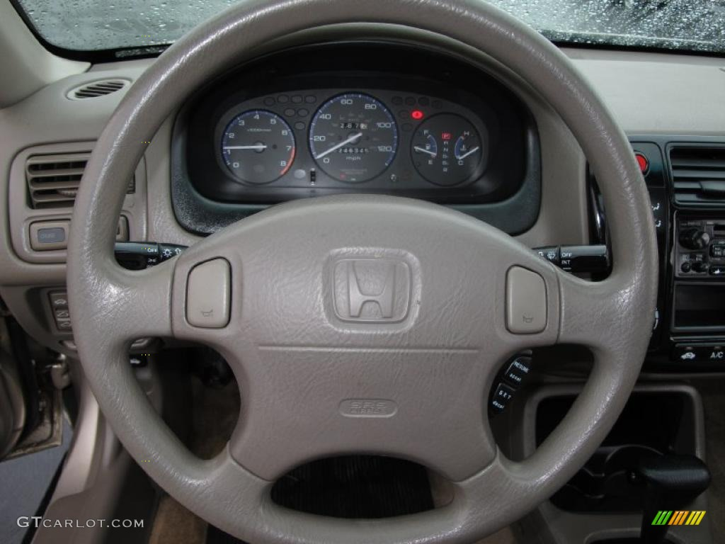 2000 Honda Civic EX Sedan Beige Steering Wheel Photo #39033397